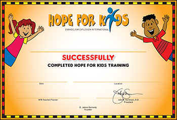 hope-for-kids certificate